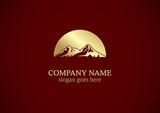 gold mountain nature logo