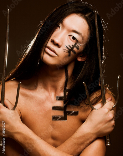 Poster asian boy with make up