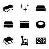 Set of 9 sponge filled icons - 139272173