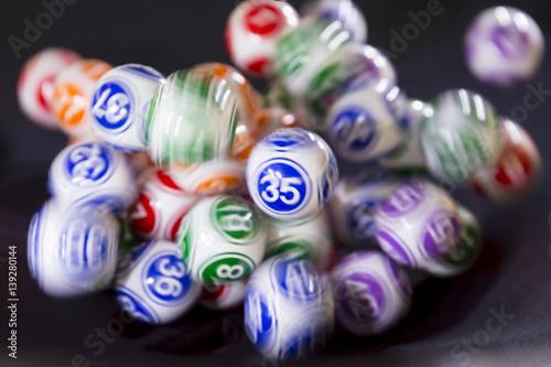 Foto op Canvas Las Vegas Colourful lottery balls in a machine 35