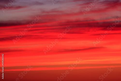 Papiers peints Rouge Red, crimson, orange, scarlet sunset sky. Nature background
