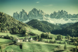 Vintage Landscape with Mountains