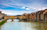 Old Gold (Ponte Vecchio) of Bridge in Florence, Italy