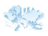 世界地図 ヨーロッパ 3D