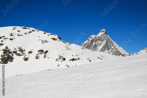 Poster pista da sci a Cervinia (Valtournanche)