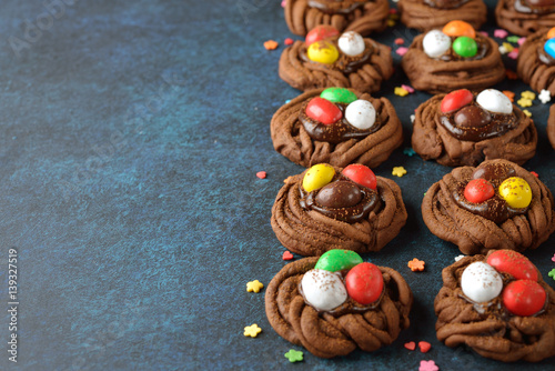Poster Cookies chocolate Easter nest