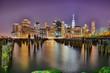 view of new york city at night