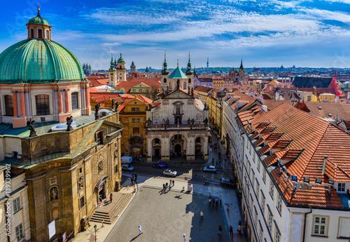 Aerial view of Old Town in Prague. Czech Republic © ekaterina_belova