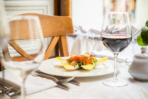Fancy Restaurant Dinner
