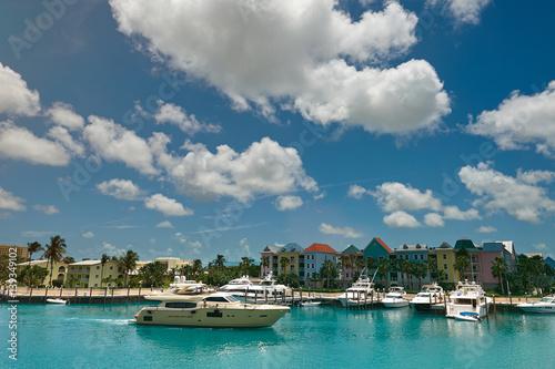 Keuken foto achterwand Schip Boat pier in Bahamas island
