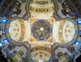 Dome of the Salzburg Cathedral in Austria, interior of the cathedral - 139357734