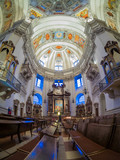 Dome of the Salzburg Cathedral in Austria, interior of the cathedral - 139357738