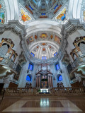 Dome of the Salzburg Cathedral in Austria, interior of the cathedral - 139357750