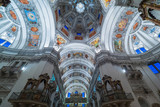 Dome of the Salzburg Cathedral in Austria, interior of the cathedral - 139357759