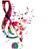 Colorful music notes...