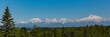 Panorama of Denali Mountain Range in Alaska