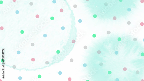 pink blue green tone color abstract vector background, look like watercolor drop style - 139399774