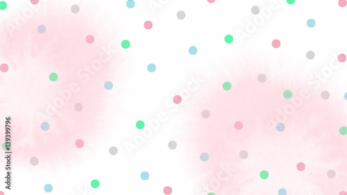 pink blue green tone color abstract vector background, look like watercolor drop style - 139399796
