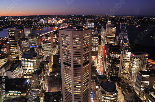 Poster Sydney Tower Sunset
