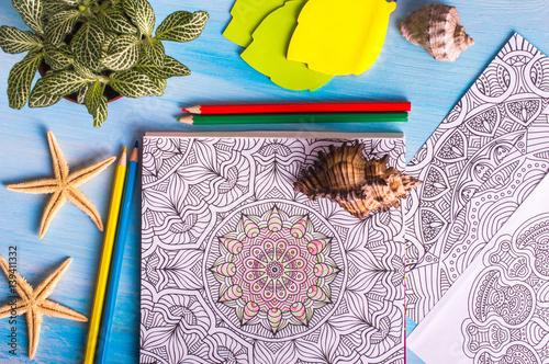 Painted mandala. vacation concept