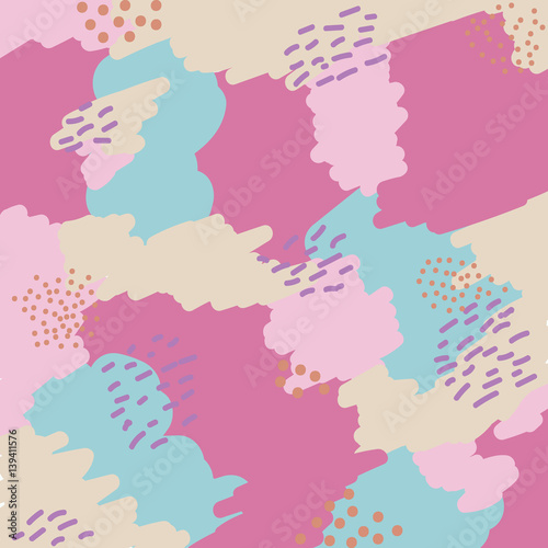 Fototapeta Abstract modern pattern. Design for posters, cards, textile.