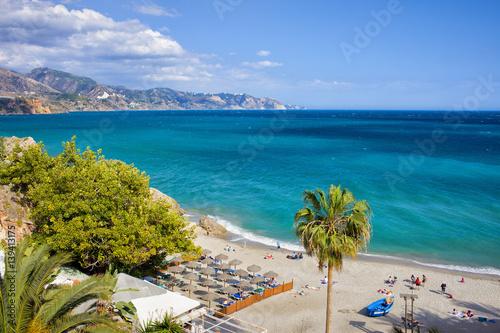 Calahonda Beach in Nerja on Costa del Sol in Spain