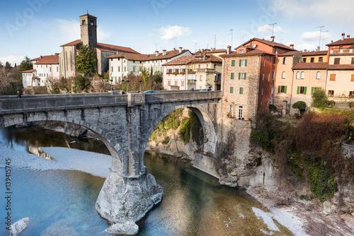 Poster View of Cividale del Friuli and devil's bridge