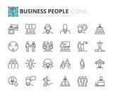 Outline icons about business people - 139437504