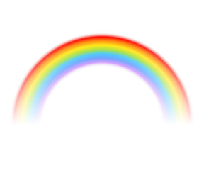 Vector rainbow isolated on a white background.