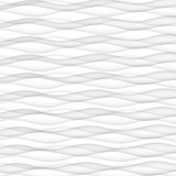 abstract pattern seamless. white texture. wave wavy modern geometric white background. interior design wall 3d  vector illustration