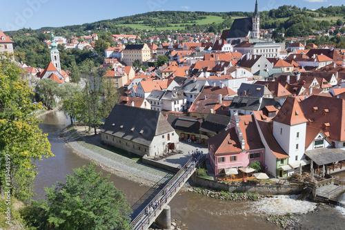 Poster Oude stad in Tsjechië.