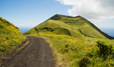 Beautiful and scenic landscape of Azores islands in Portugal