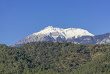 The snow in the mountains in the arch of Antalya.