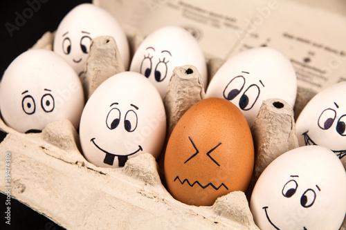 Eier mit Gesichtern Poster
