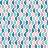 Abstract seamless pattern in green, gray and pastel pink on white background.