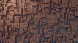 Abstract clay surface pattern. 3d rendering
