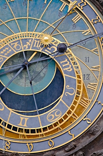 Poster Old astronomical clock detail