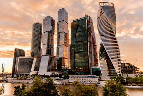 Poster view Moscow city
