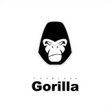 Gorilla.Gorilla face. Gorilla head. Gorilla logo. Simple flat of gorilla head. - 139507324