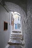 Greece Hydra island, picturesque dark alley