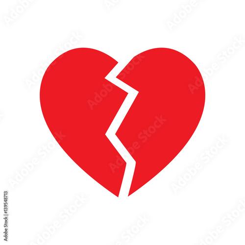 Broken Heart Symbol Isolated Vector Buy Photos Ap Images