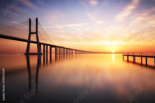 Lizbona, most Vasco da Gama, Portugalia