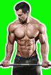 Leinwanddruck Bild - Handsome power athletic man on diet training pumping up muscles