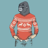 Monkey gorilla vector illustration - 139562750