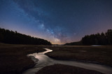 Streams leading into the Quabbin Reservoir under the stars