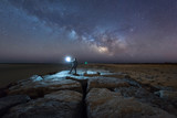 Midnight Explorer at Barnegat Light Jetty watching the Milky Way rise