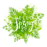Spring background with green leaves - 139569922