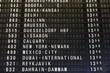 Airport departures list in Frankfurt