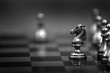 Leinwanddruck Bild - Chess Pieces on Board for Game and Strategy