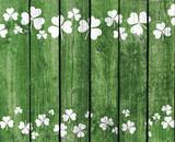 Green Planks with Shamrock Decoration